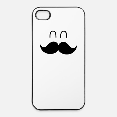Super  Funny Mustache Face - Carcasa iPhone 4/4s