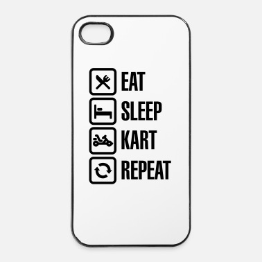 Off Eat sleep kart karting go-karts repeat - Coque rigide iPhone 4/4s