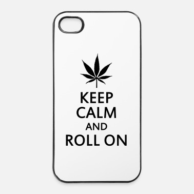 Keep Calm keep calm and roll on - Custodia rigida per iPhone 4/4s