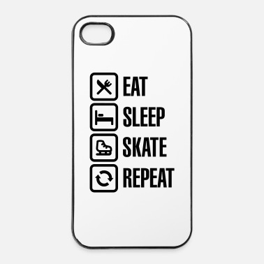 Skate Eat sleep figure ice skate repeat - Hårt iPhone 4/4s-skal