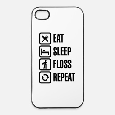 Populaire Eat sleep the floss dance / flossing repeat - iPhone 4/4s hard case