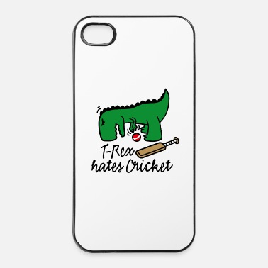 Sport De Balle T-Rex hates cricket dinosaure joueur de cricket - Coque rigide iPhone 4/4s