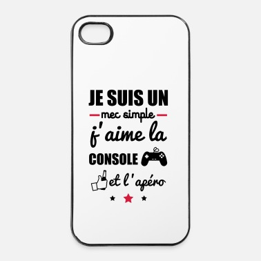 mec simple console apéro, cadeau geek, gaming - Coque iPhone 4 & 4s