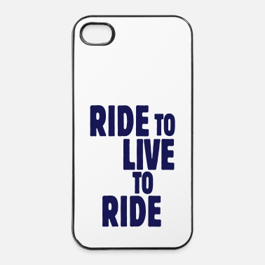 Inverno ride to live to ride i - Custodia rigida per iPhone 4/4s