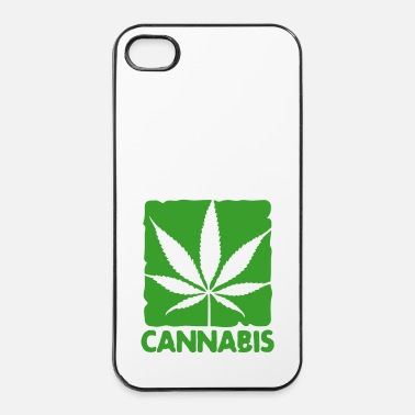 Wild cannabis leaf boxed - iPhone 4/4s kovakotelo
