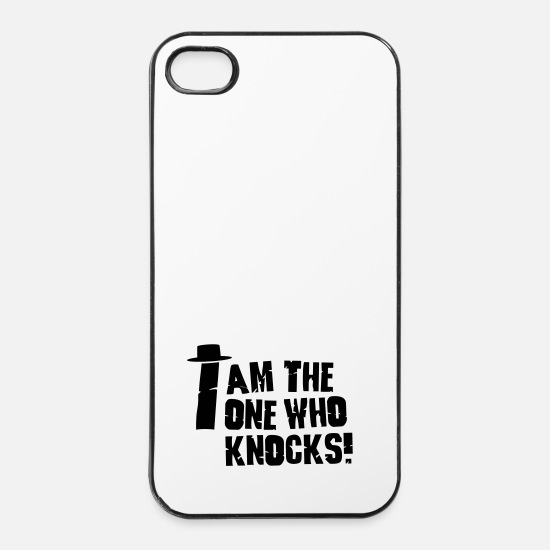 Joke iPhone Cases - I am the one who knocks / i'm the one who knocks - iPhone 4 & 4s Case white/black