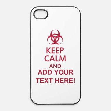 Virus keep calm and toxic  - Custodia rigida per iPhone 4/4s