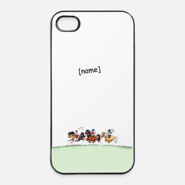 Galop Trois Jockeys Thelwell Dessin - Coque rigide iPhone 4/4s