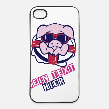 Sunglasses A pig with sunglasses and Life-Belt - iPhone 4 & 4s Case