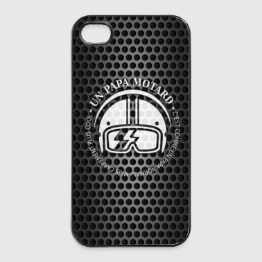 papa motard et fond - Coque rigide iPhone 4/4s