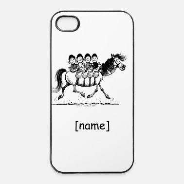 Groep Groep van vier Thelwell Cartoon - iPhone 4/4s hard case