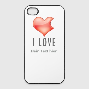 Paare I LOVE - iPhone 4/4s Hard Case