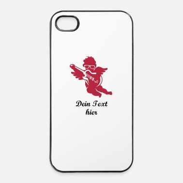 Angel A cherub with cool glasses and an electric guitar - iPhone 4 & 4s Case