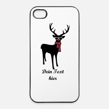 Nose A reindeer with scarf and glasses - iPhone 4 & 4s Case