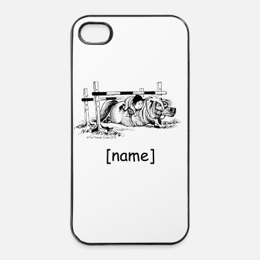 Black PonyFall Thelwell Cartoon - iPhone 4 & 4s Case