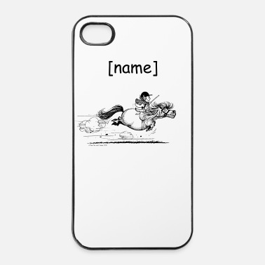 Black PonySprint Thelwell Cartoon - iPhone 4 & 4s Case