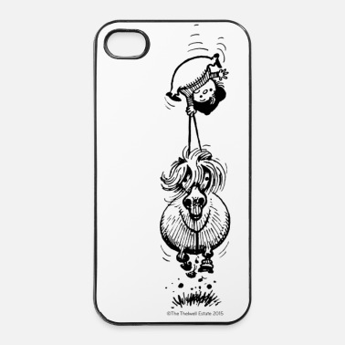 Black PonyUpsideDown Thelwell Cartoon - iPhone 4 & 4s Case