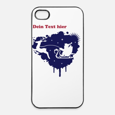 Santa Claus Santa Claus in a sleigh with a reindeer  - iPhone 4 & 4s Case