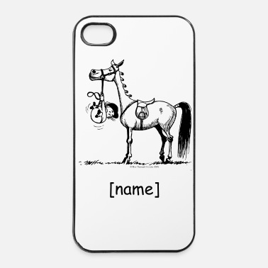 Black Stubborn Pony Thelwell Cartoon - iPhone 4 & 4s Case