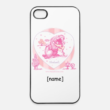 Girl Pony Hugging Thelwell Cartoon - iPhone 4 & 4s Case