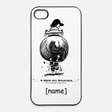 Salto A Ostacoli PonyGalopp Thelwell Cartoon - Custodia rigida per iPhone 4/4s