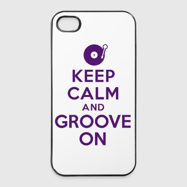 Keep calm and groove on - Coque rigide iPhone 4/4s