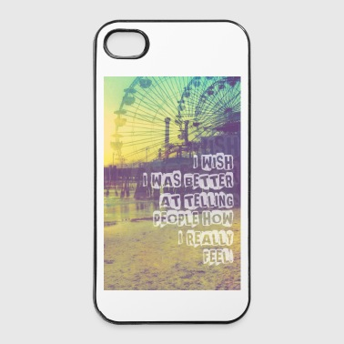 _I wish,Hipster T-Shirts,Moustache,Triangle,Hipsta - iPhone 4/4s Hard Case
