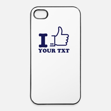 Ik Hou Van Je I like outline / I love - iPhone 4/4s hard case