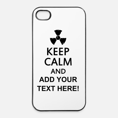Keep Calm keep calm and radioactive - iPhone 4/4s kovakotelo