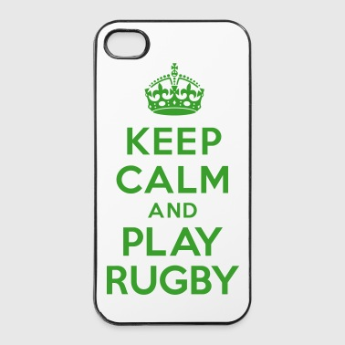 Keep calm play Rugby - Coque rigide iPhone 4/4s