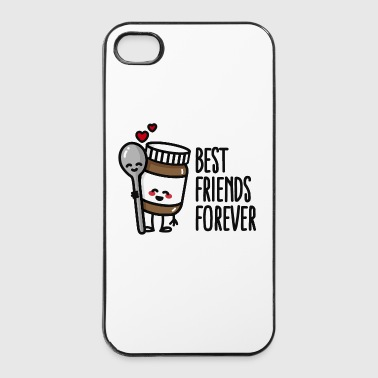Best friends forever chocolate spread / spoon BFF - iPhone 4/4s Hard Case