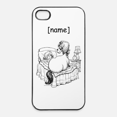 Équitation Western PoneyLit Thelwell Dessin - Coque rigide iPhone 4/4s