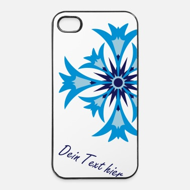 Icon A stylized blossom of cornflower - iPhone 4 & 4s Case
