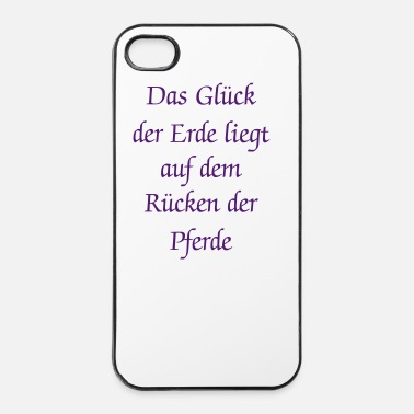 Change Two galloping horses - you can change all colours - iPhone 4/4s hard case