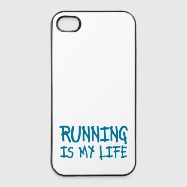 running is my life - Coque rigide iPhone 4/4s