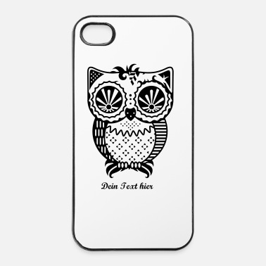 Modèle Un hibou de patchwork - Coque rigide iPhone 4/4s