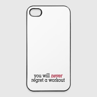 you will never regret a workout 2c - Twarde etui na iPhone 4/4s