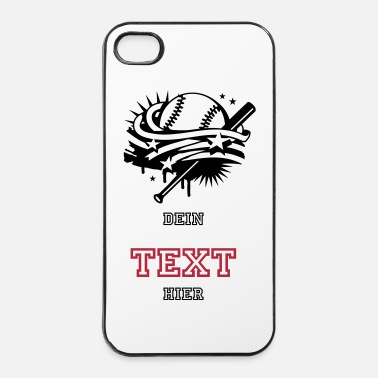Sport De Balle Une balle de baseball et une batte de base-ball - Coque rigide iPhone 4/4s