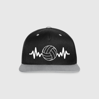 Beach Volleyball Volleyball is life - Contrast Snapback Cap