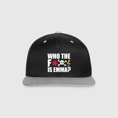 Emma who the fuck is emma? MDMA Ecstasy Techno Sprüche - Kontrast Snapback Cap