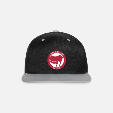 Antifa Anti-Fascist Action - Contrast Snapback Cap