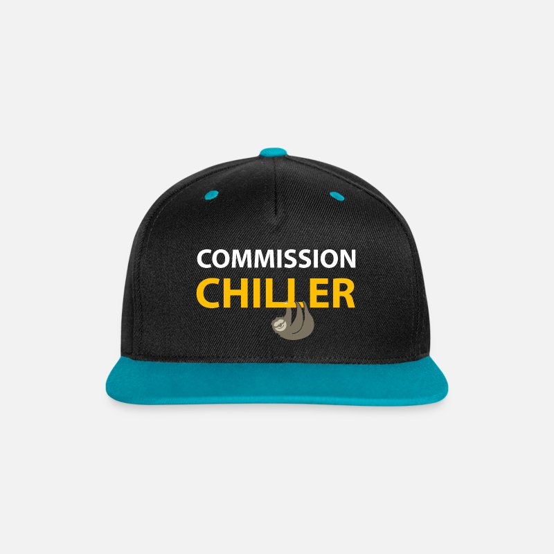 Animals Caps & Hats - commission chiller - Snapback Cap black/teal