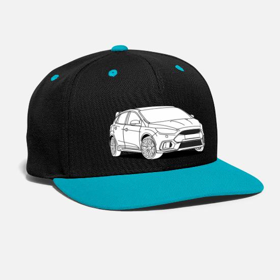 Wheels Caps & Hats - Sporty Hatchback - Snapback Cap black/teal
