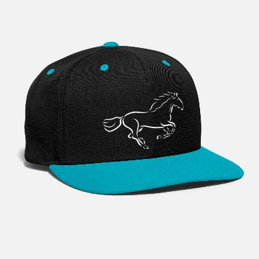 galloping horse Stallion Mare drawing - Snapback Cap