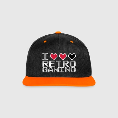 I Heart Retro Gaming Quote - Snapback-caps med kontrast