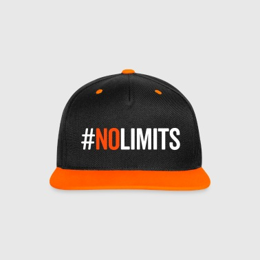 No Limits Gym Quote - Kontrastkeps med snapback