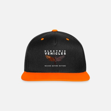 Nissan Totenkopfmotte Electric Vehicles Because Nature - Kontrast Snapback Cap