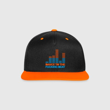 Dance To The Beat 3 EDM Quote - Contrast Snapback Cap