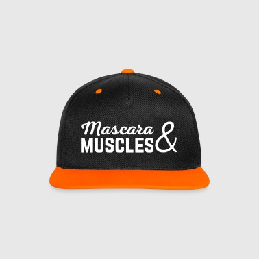 Mascara & Muscles Gym Quote  - Gorra contraste Snapback