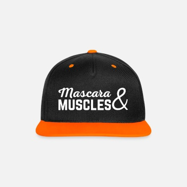 Funny Gym Mascara & Muscles Gym Quote  - Gorra contraste Snapback